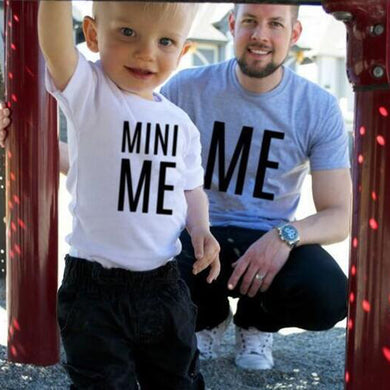 MINI ME Letter Family Look Daddy Mommy and Me