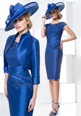 Sheath  Mother of The Bride Dresses With Jacket