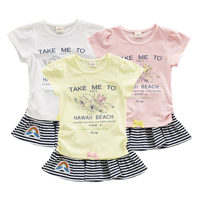 2pcs toddler baby girls clothing sets