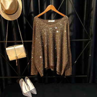 Knit Sequined Sweaters