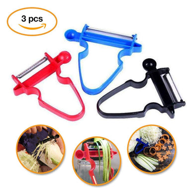 3PCS Stainless Steel Blade Trio Peeler