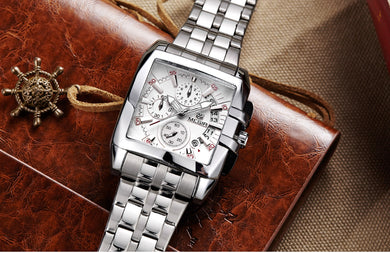 Quartz Men's Stainless Steel Dress Wrist Watches
