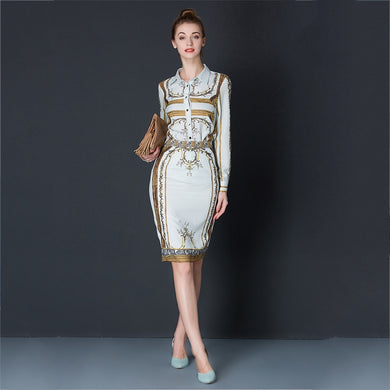 High Quality Designer s 2 Piece Blouse and -Skirt