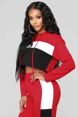 Patchwork Two Piece Tracksuit