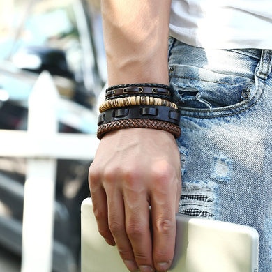 Genuine Leather Multilayer Bangles