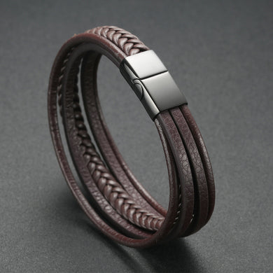 Soul Men  Unique  Multilayer Genuine Leather Bracelets