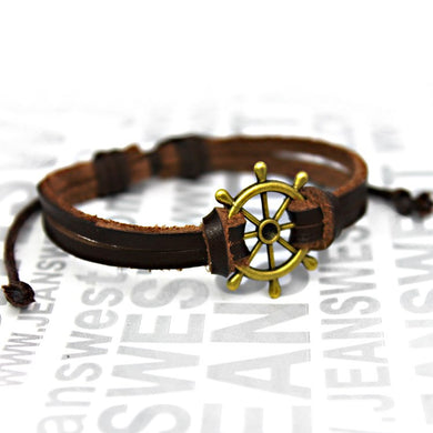 Unisex Genuine Leather Bracelet