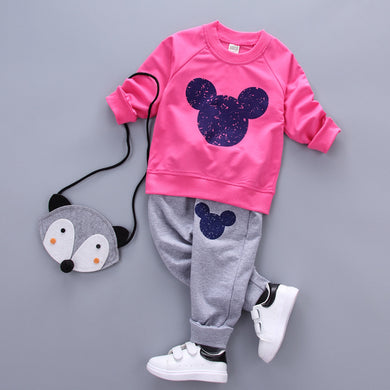 Toddler Tops + Pants Sweater Set Tracksuit