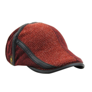 3525b6a9a13 Patchwork Knitted Visor Caps England Style