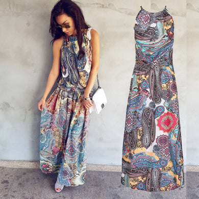 Floral Flare Maxi Dress