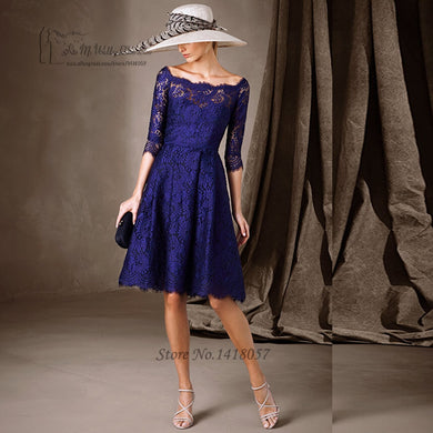 Royal Blue Mother of the Bride Lace Dress