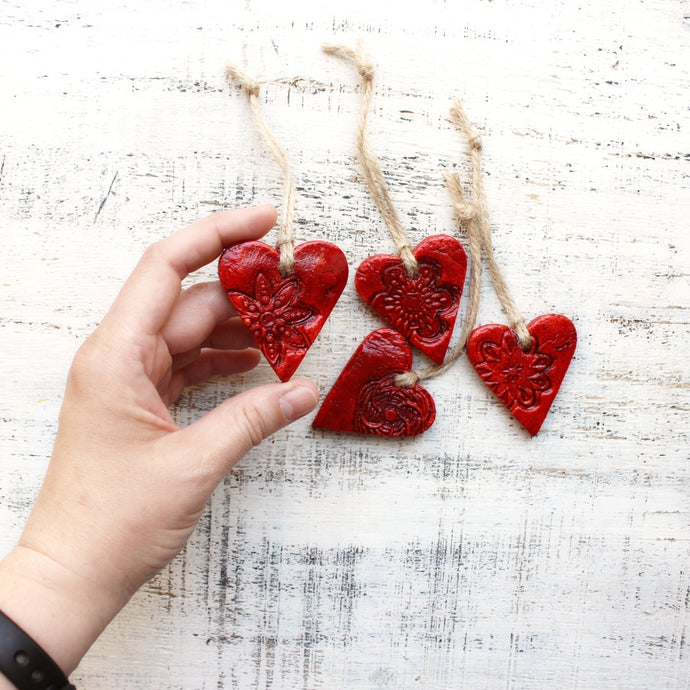 Red Heart Ornaments