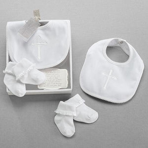 Baby Aspen Beautiful Blessings Bib and Socks Set