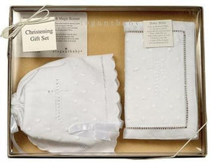 Elegant Baby - Heriloom Bonnet & Bible Set