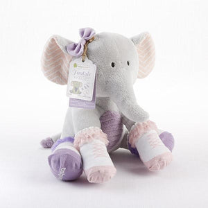 Baby Aspen - Tootsie in Footsies Plush Plus Elephant and Socks for Baby