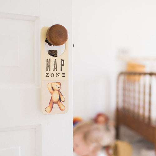 Wooden Doorknob Sign