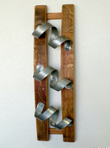 Spiral wall-mounted wine rack