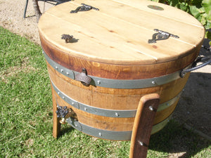 Half Barrel Ice Chest