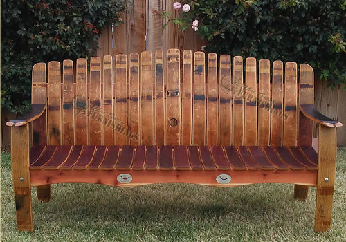 Wine Barrel Garden Bench