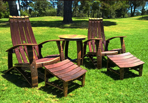 Wine Barrel Adirondack Set