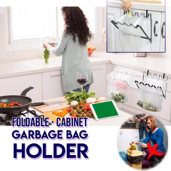 Foldable Cabinet Garbage Bag Holder