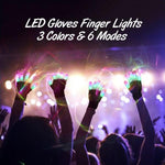 3-Colors/6-Modes LED Gloves Finger Lights
