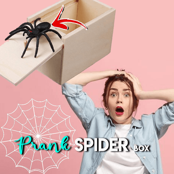 Wooden Spider Scare Prank Box