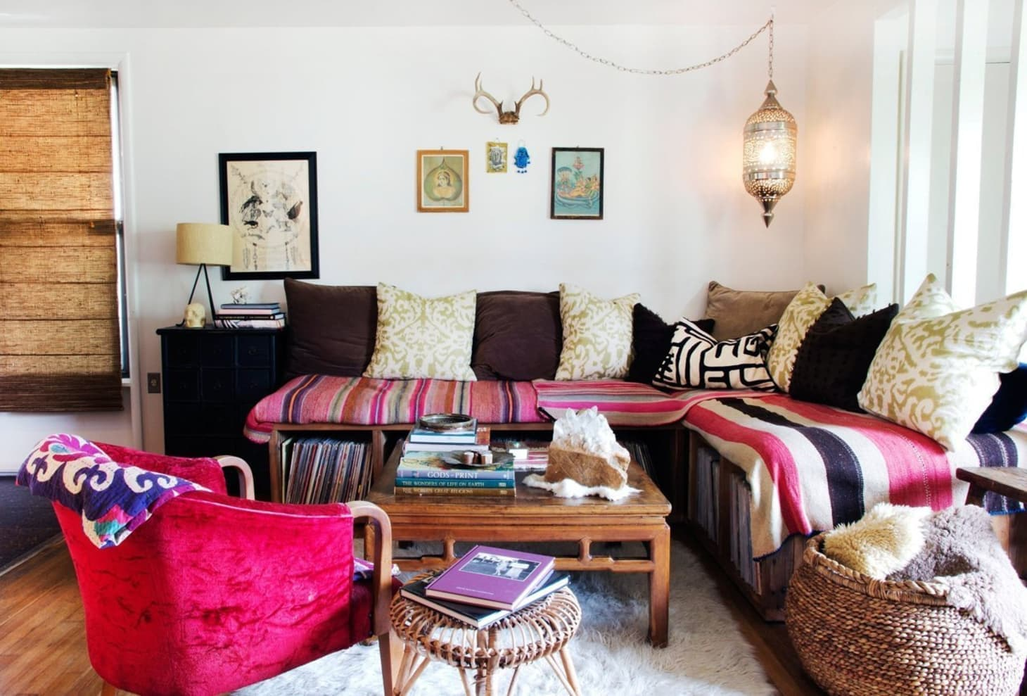Bohemian design style living room