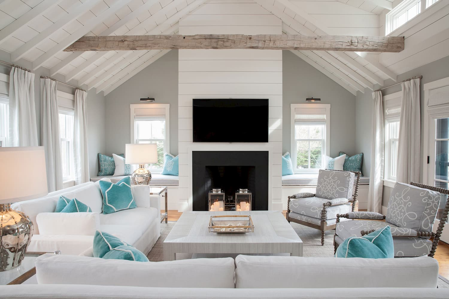 Coastal design style living room