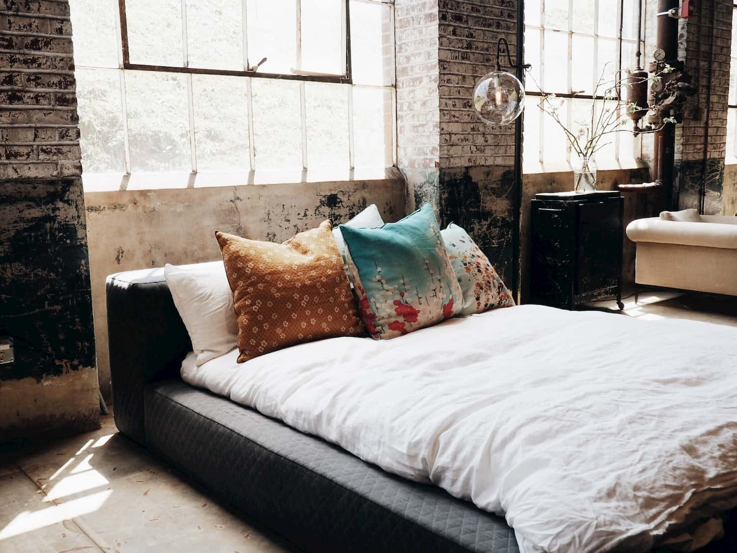 Industrial design style bedroom