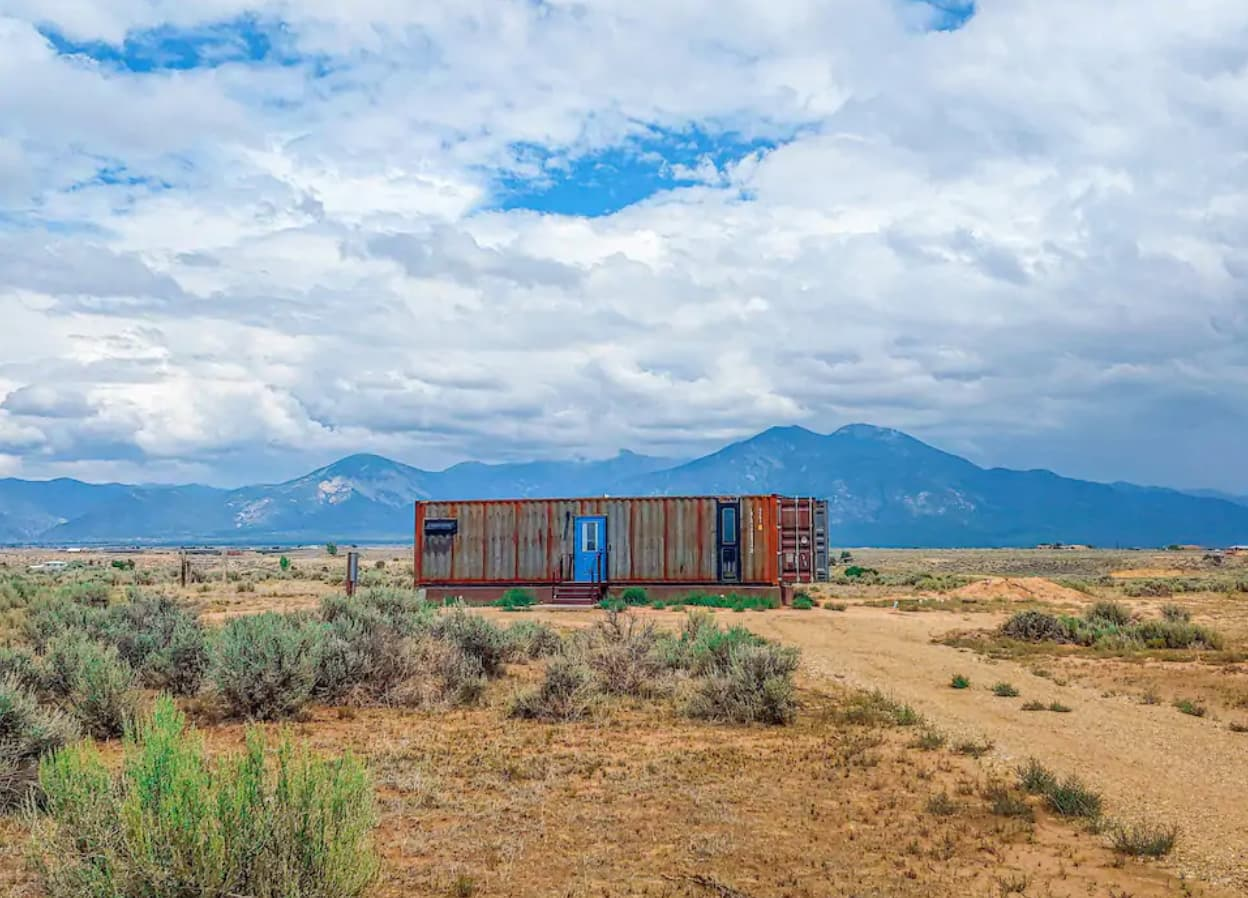 New Mexico Shipping Container Airbnb