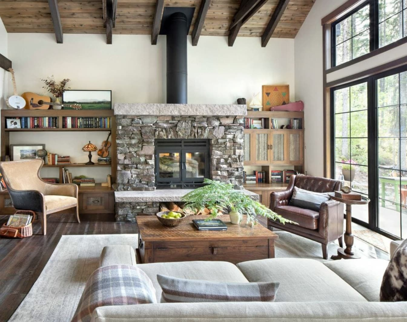 Rustic design style living room