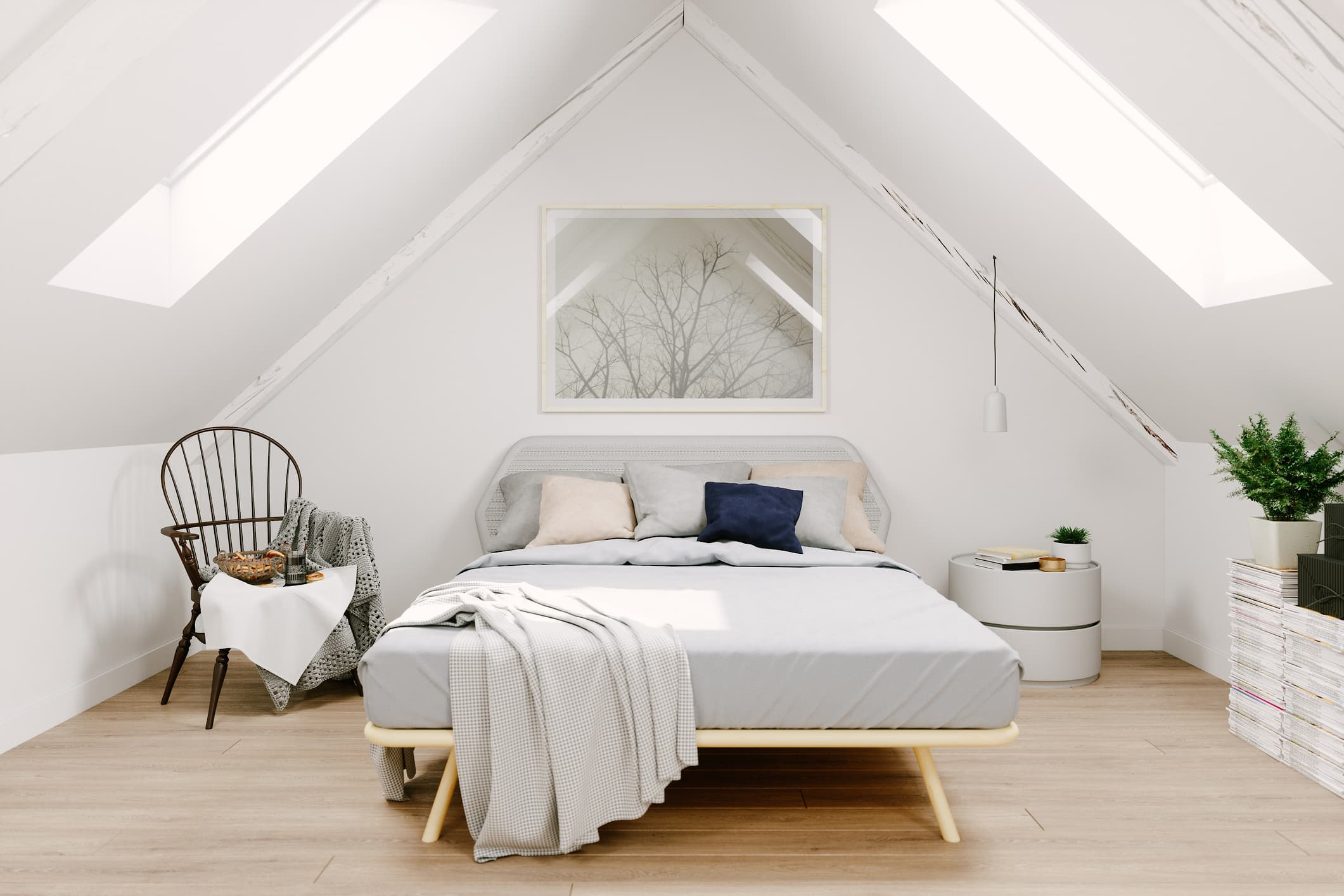 Scandinavian design style bedroom