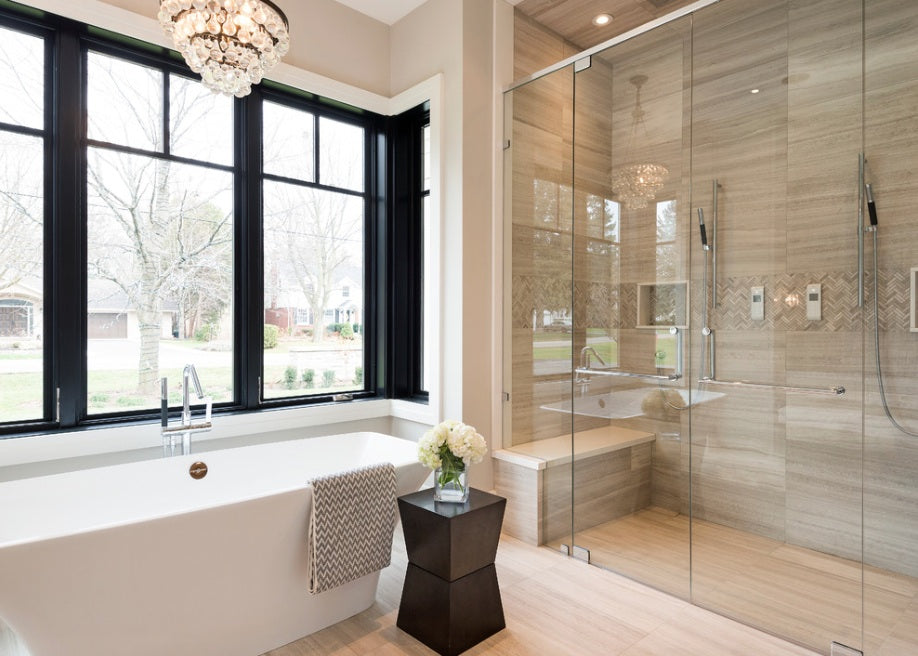Transitional design style bathroom