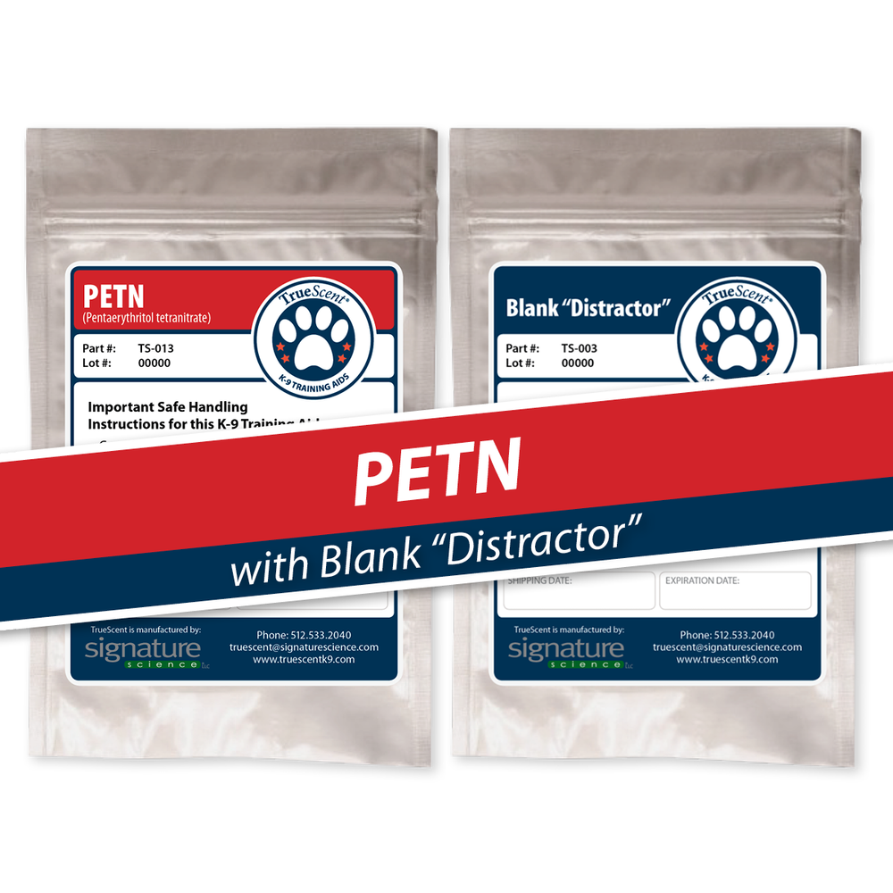 "Photo of PETN Training Scent and Blank ""Distractor"""