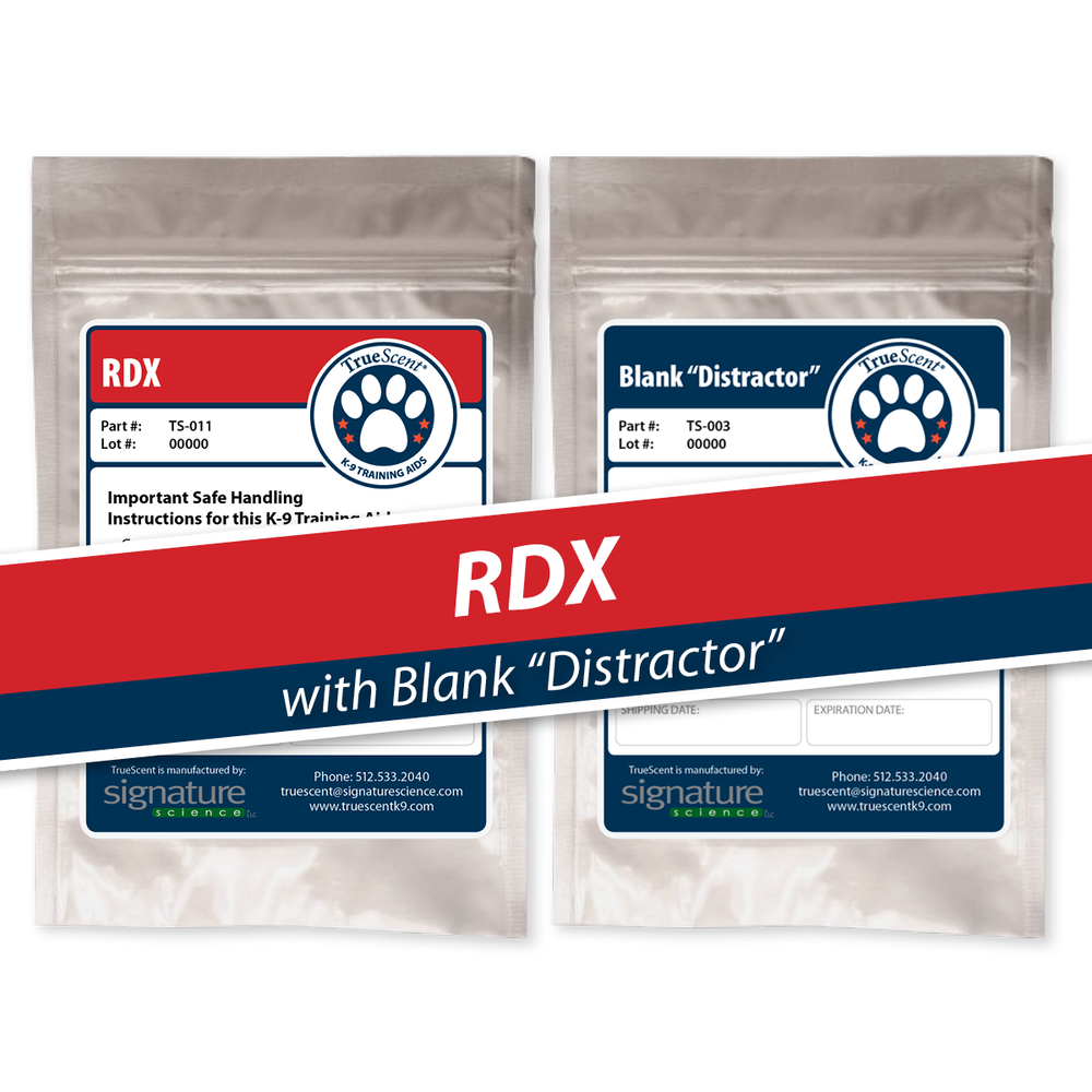 "Photo of RDX Training Scent and Blank ""Distractor"""