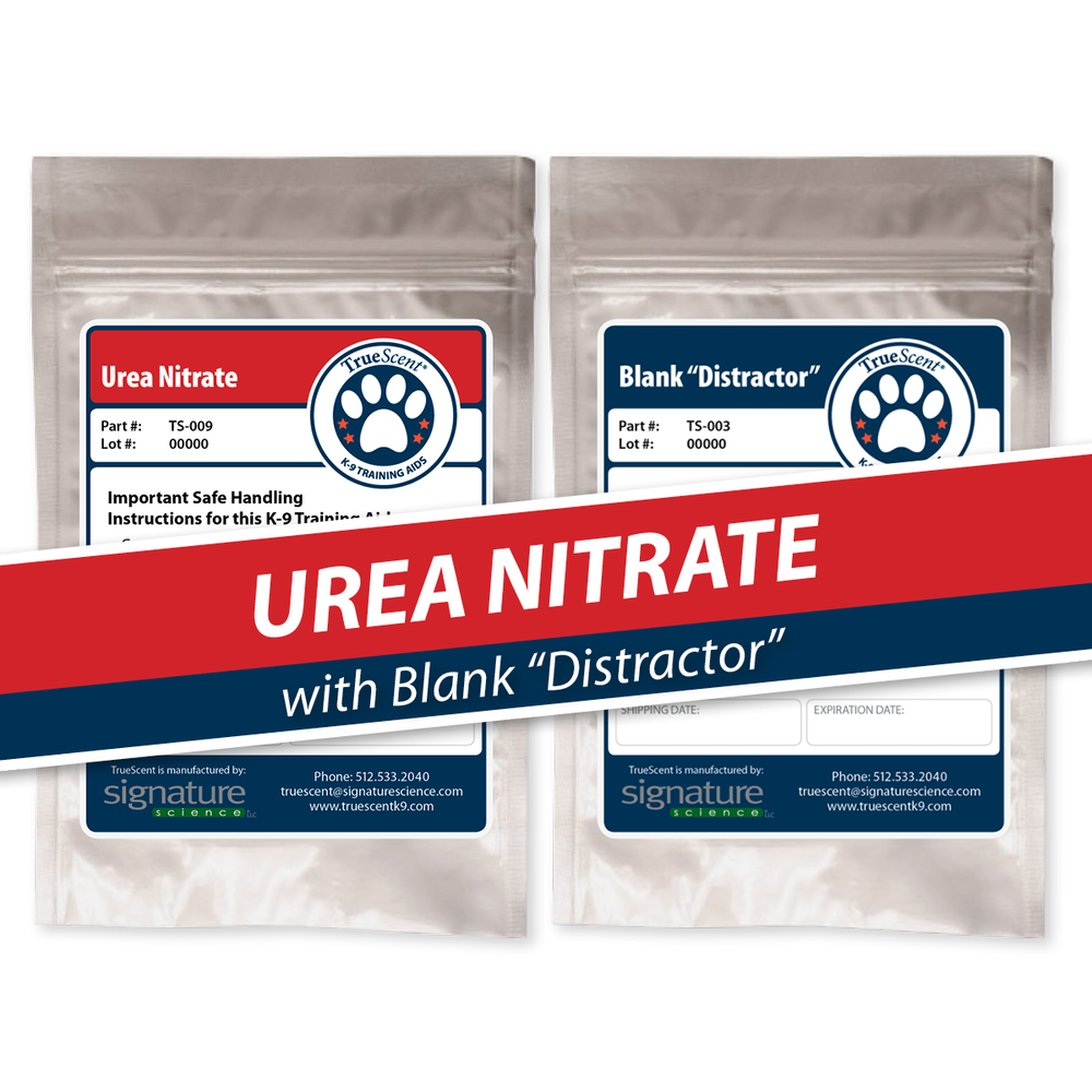 "Photo of Urea Nitrate Training Scent and Blank ""Distractor"""
