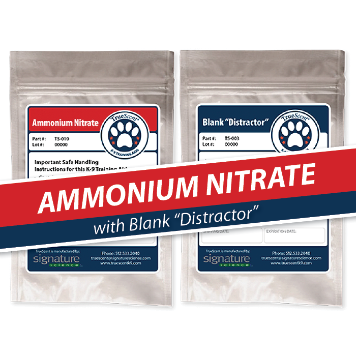 "Photo of Ammonium Nitrate Training Scent and Blank ""Distractor"""