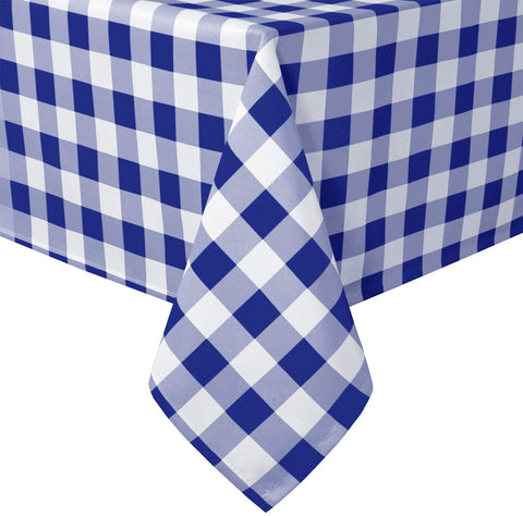 Royal Blue Checkered Tablecloth Rectangle