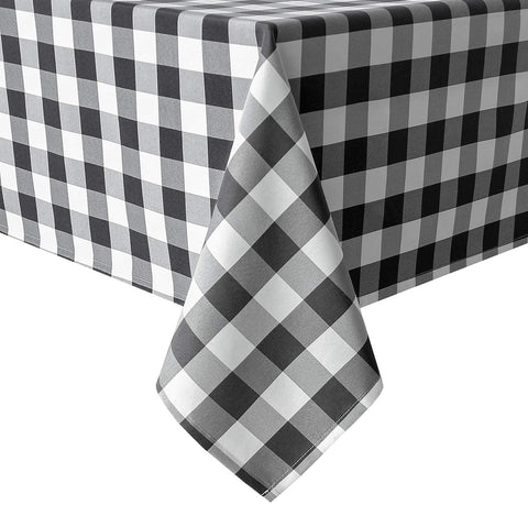 Black and White Check Tablecloth