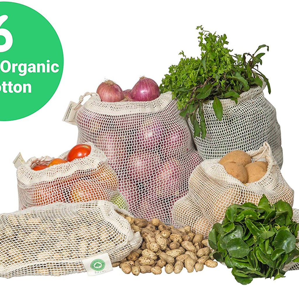 Reusable Cotton Mesh Produce Bags Organic Cotton Mart