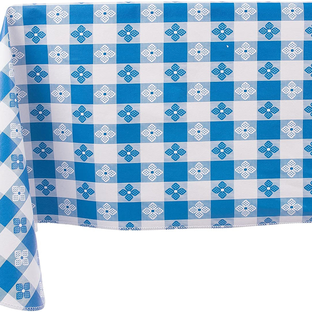 Blue and White Square Tablecloth