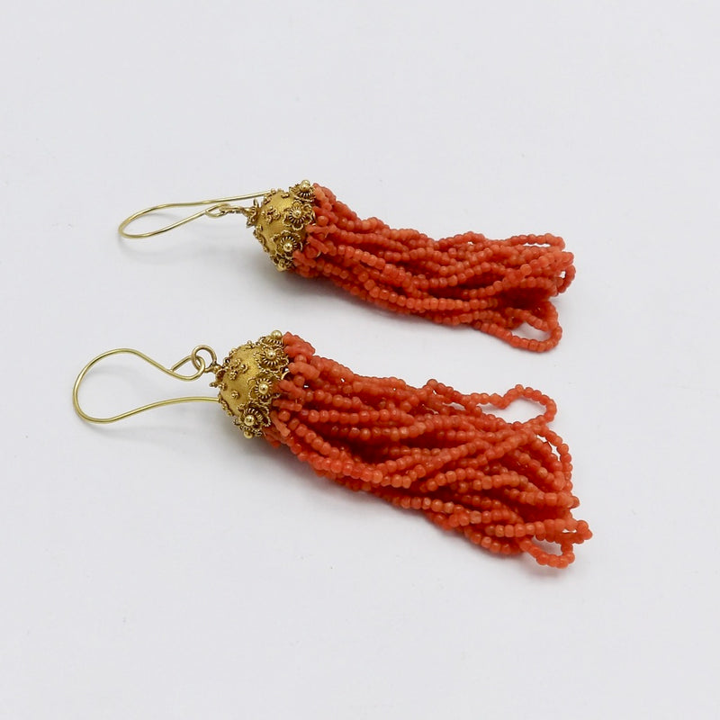 Coral earrings from Kirstens Corner Jewelry