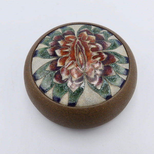 Judy Chicago Sappho Flower Ceramic Vessel from 1979 - Kirsten's Corner Jewelry