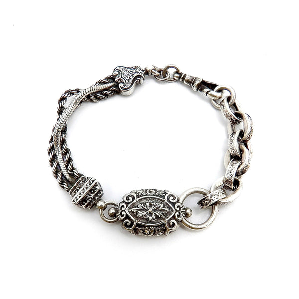 Sterling Silver Ornate Albertina Watch Chain or Bracelet. Bracelet Kirsten's Corner