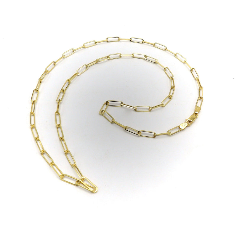 14K Yellow Gold Paper Clip Chain Necklace Necklace Kirsten's Corner Jewelry