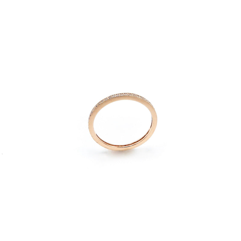 14K Rose Gold Diamond Eternity Band - Kirsten's Corner Jewelry