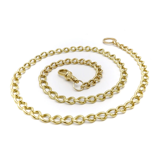 18K Gold Vintage Chain Necklace with Split Ring Chain Kirsten's Corner Jewelry