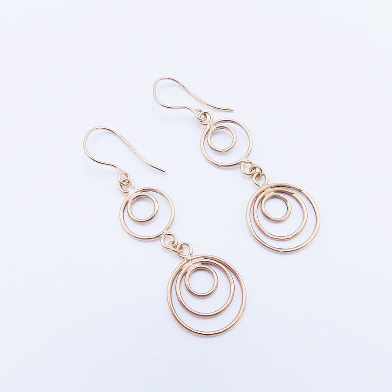 Vintage Spirals Italian 14K Rose Gold Earrings Earrings Kirsten's Corner Jewelry
