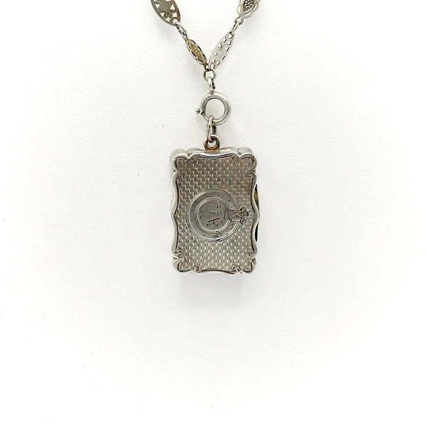 Antique British Sterling Silver Vinaigrette Pendant